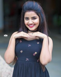 South Indian Actress Anupama Parameswaran Photo Shoot In Blue Dress Beautiful Girl Photo, Beautiful Girl Indian, Most Beautiful Indian Actress, Simply Beautiful, Cute Girl Poses, Girl Photo Poses, Photo Shoot, Stylish Girls Photos, Stylish Girl Pic