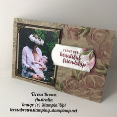Stampin' Up! Image C, Our Love, Stampin Up Cards, Friendship, Beautiful, Art, Craft Art, Kunst, Gcse Art