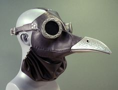 Steampunk Plague Doctor Maske in schwarz Ichabod