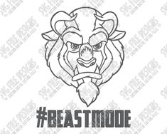 Beast Mode Beauty and the Beast Cut File Set in SVG, EPS, DXF, JPEG, and PNG