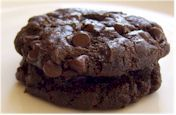 Triple Chocolate Brownie cookies - dairy and soy free. Use Earth Balance spread for the shortening. Better taste.