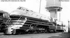 Lehigh Valley Streamlined Steam Locomotive.