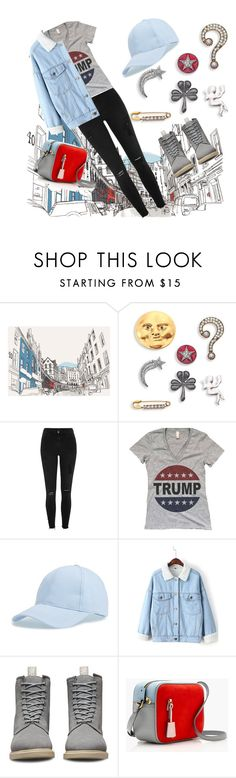 """голубая мечта"" by elyagilyova on Polyvore featuring Marc Jacobs, River Island, BP., WithChic, Dr. Martens and J.Crew"