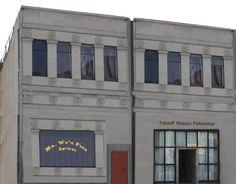 Wu's (badly photoshopped) office adjacent to the Falstaff Ninepin Fellowship aka Felicity's Coven Zombie Plague, Silent Film, Coven, Keys, Bar, Key