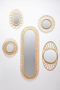 Midcentury Wicker Mirror #anthropologie