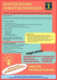 #Lomba #Desain #Furniture #Kemenkumham Lomba Desain Furniture Indonesia 2017 Kemenkumham  DEADLINE: 23 Oktober 2017  http://infosayembara.com/info-lomba.php?judul=lomba-desain-furniture-indonesia-2017-kemenkumham