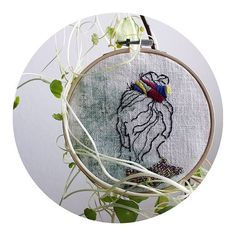 Embroidery available for sale 💜 Send me a message if you want to adopt this lady 😗 #ptak #ptakptak #ptakblog #ptakdesign #broderie #embroidery #sticken #bordado #handembroidery #art #design #embroideryinstaguild #makersmovement #creativityfound #contemporaryembroidery #modernembroidery #dmcthreads #dmcembroidery #handmade etsyshop #shopsmall #madecoamoi #diyblogu #ouiaremakers #woman #girlpower #watercolor