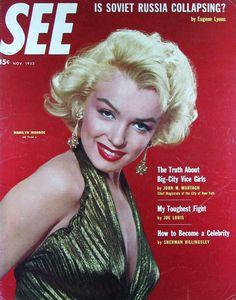 See - November magazine from Italy. Front cover photo of Marilyn Monroe by Gene Kornman, Marilyn Monroe Movies, Marilyn Monroe Photos, Gentlemen Prefer Blondes, Marlene Dietrich, Brigitte Bardot, Cinema Tv, Greta, Movie Magazine, Magazine Art