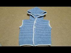Smanicato neonato uncinetto/gilet baby crochet - YouTube