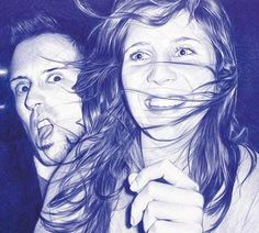 the things you can do with a blue ballpoint pen. love that.