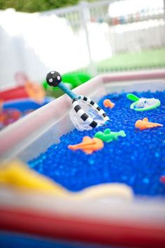Ethan's Gone Fishing 1st Birthday Party | CatchMyParty.com