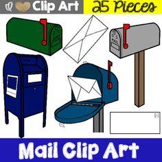 Post Office & Mailman Clip Art | Post office, Clip art and ...