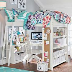 Sleep + Study® Loft #pbteen for Savannah and all her crazy amounts of stuff