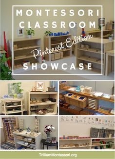 Classroom Showcase: Pinterest Edition — http://trilliummontessori.org #Montessori #MontessoriClassroom More