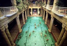 Public bathing, Hungarian style..