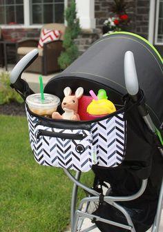 $24.95  : Stroller OrganizerChevron - FREE Snack Cup Holder - SavvyBaby Universal Fit Stroller Parent Console, Stroller Organizer Bag - Best Jogging Stroller Accessories, Baby Shower Gift : Baby