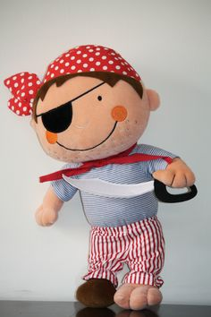 Dangerously Cute #Pirate - buy this dashing #pirate #stuffed #toy for your #baby from #connectzoey - https://www.facebook.com/connectZoey