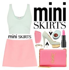 """Mini Me: Cute Skirts"" by miee0105 ❤ liked on Polyvore featuring Emilio Pucci, Charlotte Olympia, Yves Saint Laurent, too cool for school, Dirty Grl and Chloé"