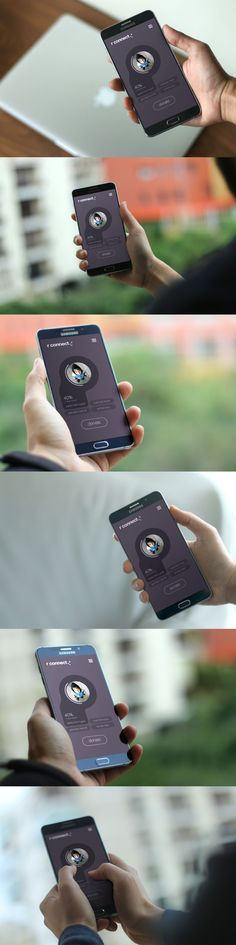 Photo realistic professional app android device mockup presentation templates…