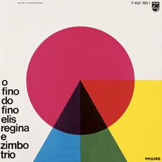 Capa de disco de 1965 O fino do Fino. Autor: Carlos Prósperi. 31 x 31 cm. Linha do tempo do design gráfico no Brasil, p. 338 in Brasil