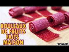 Recette Facile: DIY Fruit Roll Up Recipe in French   Comment Faire Rouleaux de Fruits Faits Maison - YouTube