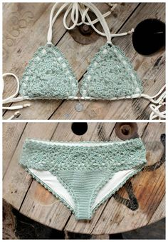 This listing is PDF FILE for CROCHET BIKINI PATTERNS: Lorelei Bikini top and Brazilian Bottom and Doris Lingerie Bikini Top and Bottom, NOT finished/ready made items:) For Doris Bikini pattern has also instruction how to add the lining for top and bottom.  Skill level Lorelei: EASY, INTERMEDIATE Doris: INTERMEDIATE You should know the basic stiches: chain stitch, single crochet, slip stitch, double crochet, halfdouble crochet. All the other sticthes used in the pattern are explained. For...