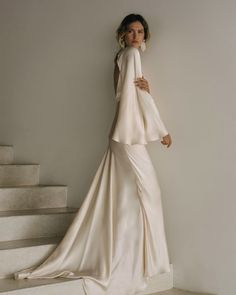 Silk silhouettes in Shona Joy's latest release of their exclusive Bridal Capsule Collection. See more on The Lane. Best Wedding Dresses, Bridal Dresses, Wedding Gowns, Civil Wedding, Lace Wedding, Wedding Silhouette, Backless Maxi Dresses, Maxi Long Sleeve Dress, Looks Street Style