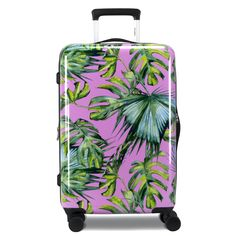 Burst into 2020 with an eruption of color with Chariot Travelware's Paradise luggage set. With a bright pink backdrop, Paradise uses a collection of ferns to inspire a fun, colorful tropical vacation. This spinner is crafted from polycarbonate/ABS material, making it durable enough for any rough travel, but also ultra-lightweight to not weigh you down. Paradise also features a 3-digit TSA-lock combination for extra security, expandable capacity up to 30%, and eight 360 easy-glide wheels. Pink Backdrop, Hardside Luggage, A Dime, Luggage Sets, Ferns, The Expanse, Bright Pink, Pink Color