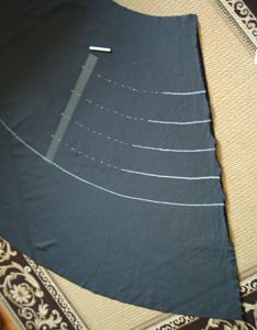 Constructing a tiered petticoat