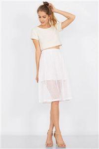 Clean Grid Skirt