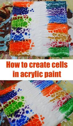 Swiping video tutoral on how to create cells in acrylic pour painting. Swiping with white form the center of the painting out.