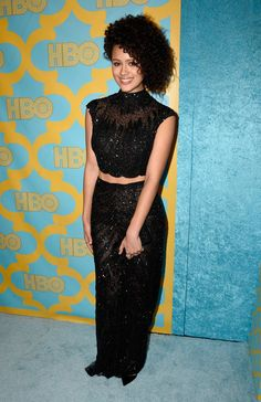 Nathalie Emmanuel Photos Photos - Actress Nathalie Emmanuel attends HBO's Post 2015 Golden Globe Awards Party at Circa 55 Restaurant on January 11, 2015 in Los Angeles, California. - HBO Golden Globes Party