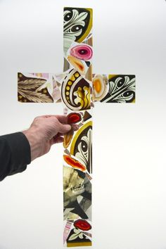 Cross. (with D. Hirst licking at a skull ) 2014