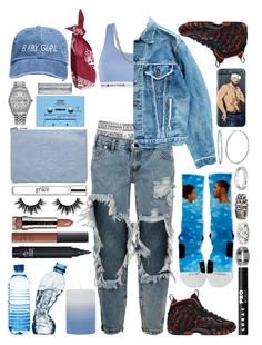 """""""T O R M E  N T A"""" by aida-indeguy ❤ liked on Polyvore featuring Versace, Tommy Hilfiger, One Teaspoon, NIKE, Sterling Essentials, River Island, Levi's, Rolex, BERRICLE and CASSETTE"""