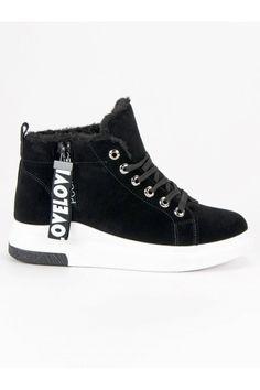 Čierne tenisky s kožušinou CnB High Tops, High Top Sneakers, Shoes, Fashion, Moda, Zapatos, Shoes Outlet, Fashion Styles, Shoe