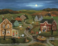 I love folk art by Mary Singleton...I have one of her calendars at home...you get lost in each scene!