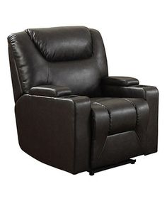 This Madden Power Leather Recliner by AC Pacific is perfect! #zulilyfinds