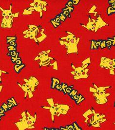 Robert Kaufman Pokemon Fabric Pikachu By The Half Yard Dark Blue