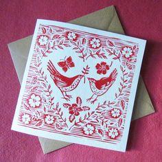 The birds wedding day card von magiccochin auf Etsy, £2,50