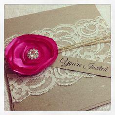 50 x rústico invitación de boda con flores por StunningStationery, $500.00