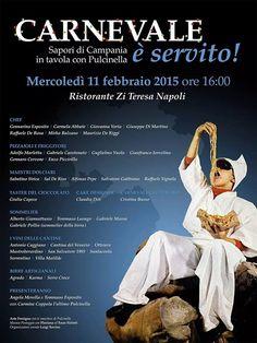 News di Spaghetti italiani - 11/02 - Ristorante Zi Teresa - Napoli - Carnevale è servito - Sapori di Campania in tavola con Pulcinella