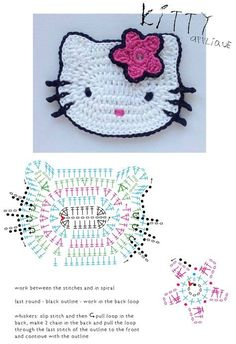 Patrón: almohadones super elegantes / Super elegant cushions with crochetCrochet Patterns For Kids Hello Kitty appliqueDIY by les frotteursHow to Crochet a Bodycon Dress/Top - Crochet IdeasThis Pin was discovered by Oks Chat Crochet, Crochet Mignon, Crochet Teddy, Crochet Amigurumi, Crochet Motifs, Crochet Baby Shoes, Crochet Diagram, Crochet Toys Patterns, Baby Blanket Crochet