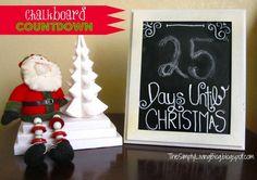 christmas countdown, christma countdown, chalkboard christma, christma decor, lp christma