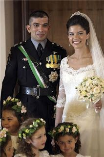 HRH Prince Rashid bin El Hassan of Jordan and Miss Zeina Shaban were married on July 22, 2011 at Basman Palace in Amman Jordan. The groom is the nephew of the late King Hussein. His bride, Zeina, is a table tennis champion who represented Jordan in both the 2004 and 2008 Olympic Games.