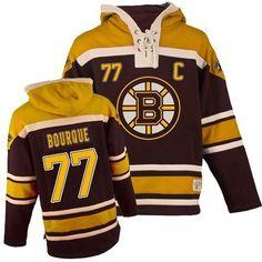 Old Time Hockey Tuukka Rask Men s Authentic Sawyer Hooded Sweatshirt Jersey  - NHL Boston Bruins Black. 39e928560