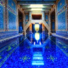 My dream indoor pool!  But with less cheesy blue and warmer colors, like cream tile.