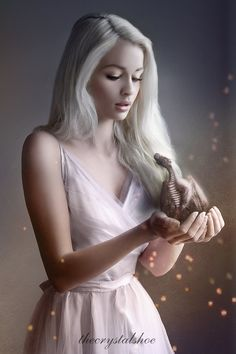 This is a GOT - Daenerys ispired piece. Model stock: Dragon stock: markopolio-s. Fantasy Dragon, Dragon Art, Fantasy Romance, Fantasy Girl, Blonde Roots, Female Dragon, Female Character Inspiration, Beautiful Fantasy Art, Digital Portrait