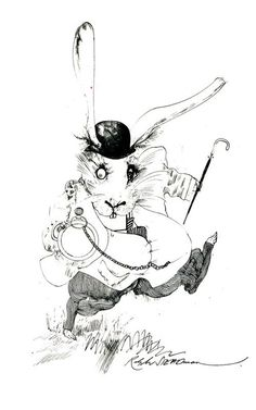 I read somewhere that John Tenniel's illustrations for Alice in Wonderland are among the most famous illustrations ever done. If that's the case, then illustrating Alice in Wonderland must be a daunting task for any illustrator taking on the job. Ralph Steadman's version, published in 1968, has my vote for a job well done.