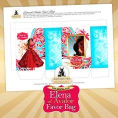 Elena of Avalor Favor Bag Elena of Avalor Party Instant