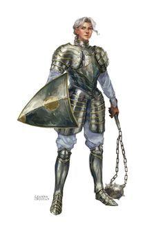 0eb057cba08029db1945ce56505667aa.jpg (236×333) female knight flail